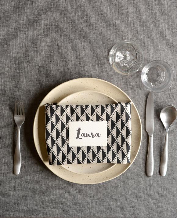 Black Diamond Linen napkins - Cotton & Flax