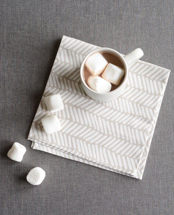 Linen herringbone napkins from Cotton & Flax
