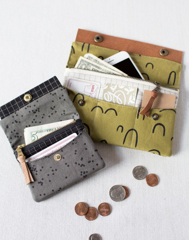 DIY fabric wallet - made with Arroyo fabric
