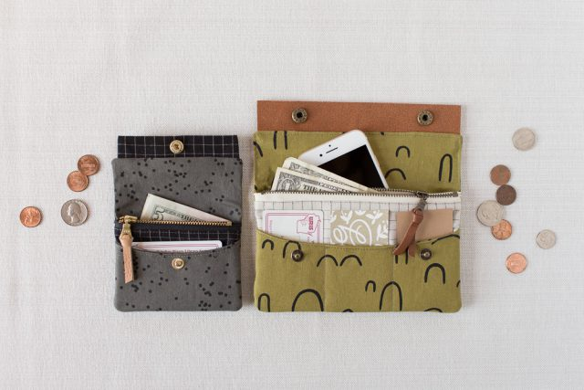 DIY fabric wallet - Made with Arroyo fabric from Cotton & Flax