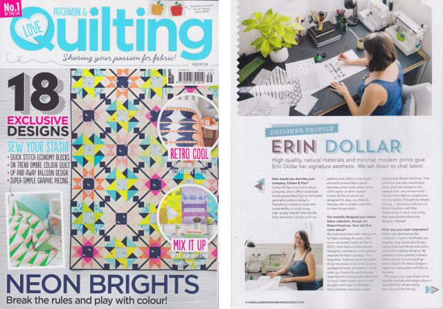 Love Patchwork and Quilting Magazine feature