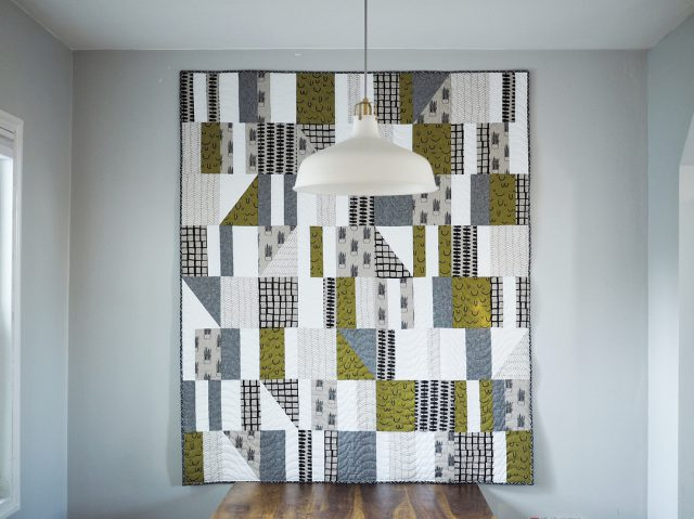 Modern Quilt made with Arroyo Fabric