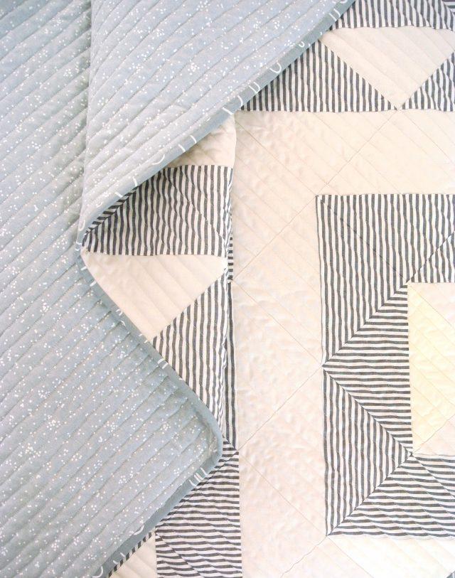 Modern Quilt with Subtle Pattern