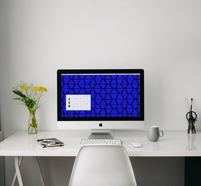 Patterned desktop wallpaper download from Cotton & Flax