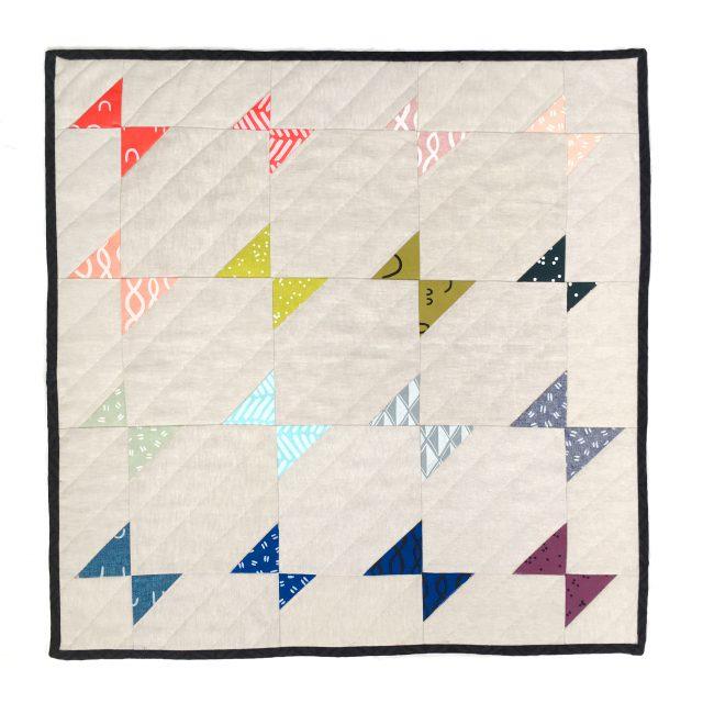 Modern Quilt - rainbow butterfly quilt