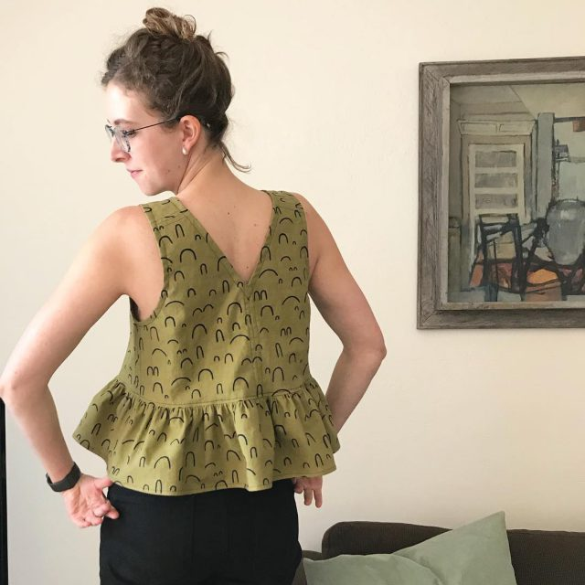 Peplum top made with Arroyo by Katie Emma