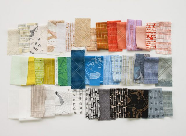 Carolyn Friedlander - Carkai fabric swatches