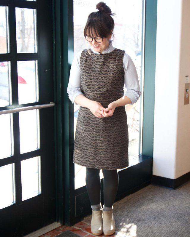 Simple dress made with Arroyo by modern textiles