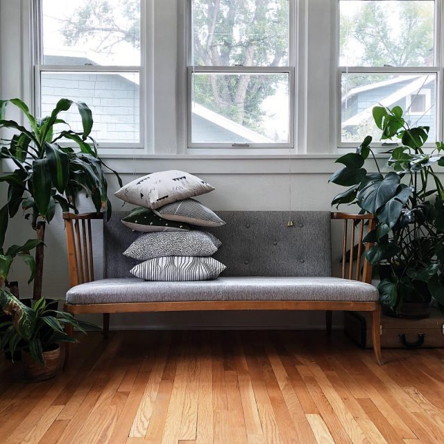 Pile of linen pillows