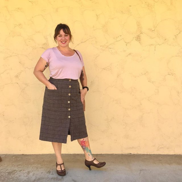 Handmade skirt made with Balboa fabric