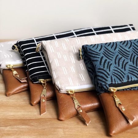 Handmade clutch bags - made with Balboa Fabric