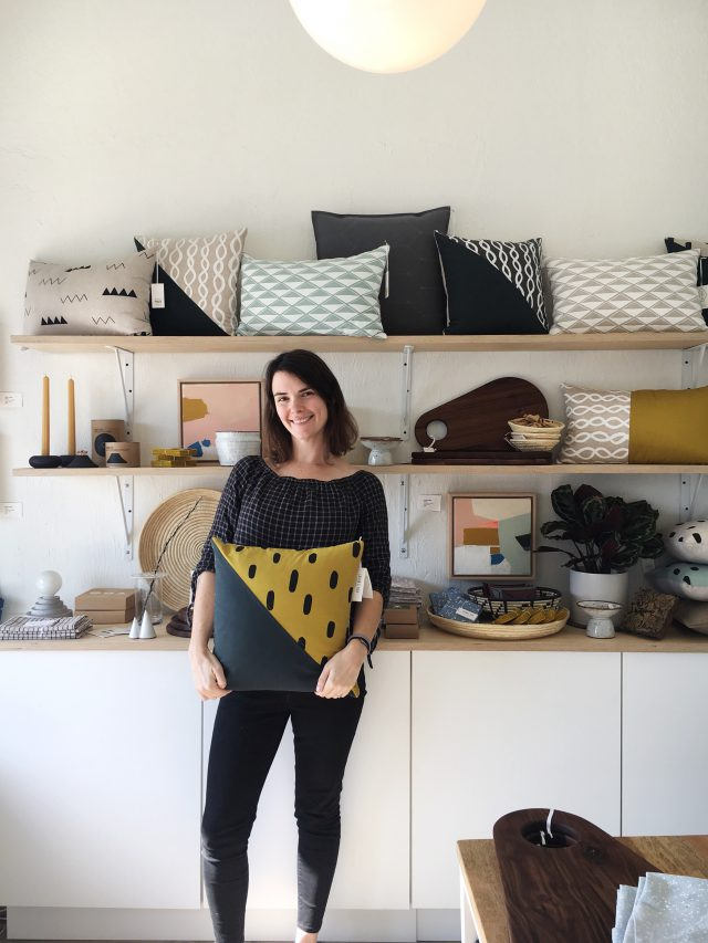 Erin Dollar at the Cotton & Flax shop in San Diego