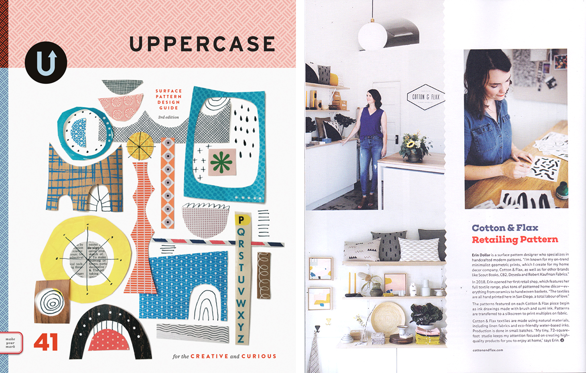 Erin Dollar in Uppercase Magazine's surface pattern design guide