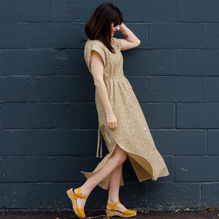 Balboa fabric caftan dress