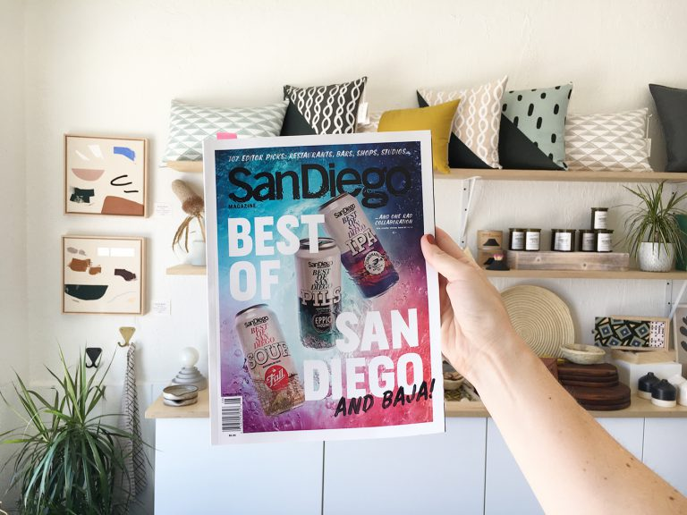 Best of San Diego - Cotton & Flax featured in SD Magazine